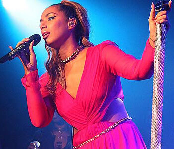 Leona Lewis wears Ariella Couture